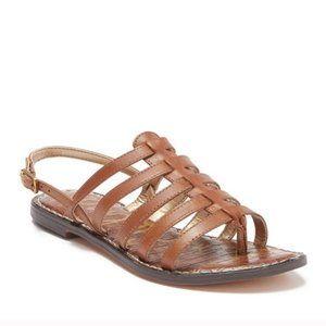 Sam Edelman NEW Garland Leather Caged Flat Sandals